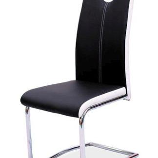 Jídelní čalouněná židle H-341, černá/bílé boky