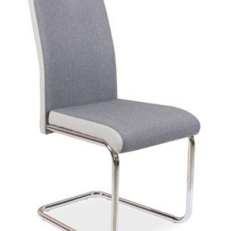 Jídelní čalouněná židle H-952, šedá/světle šedá