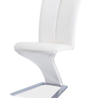 Jídelní čalouněná židle H-040, bílá
