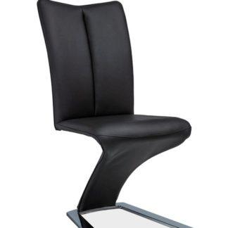 Jídelní čalouněná židle H-040, černá