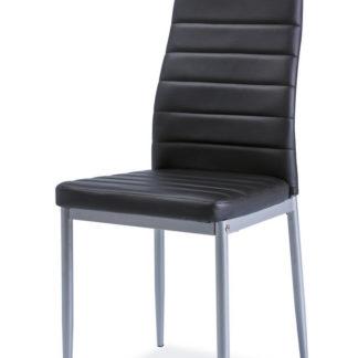 Jídelní čalouněná židle H-261 Bis, černá/alu