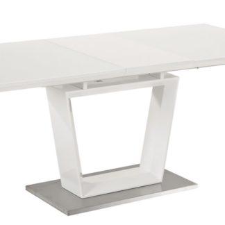 Jídelní stůl LAUREN rozkládací 160x90, bílá
