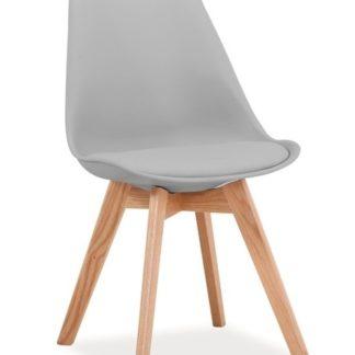 Jídelní židle KRIS, světle šedá/buk