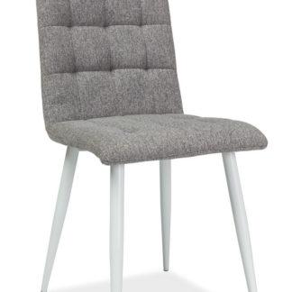 Jídelní čalouněná židle OTTO, šedá/bílá