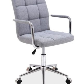 Kancelářská židle Q-022, šedá látka