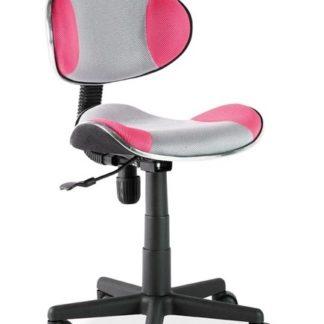 Kancelářská židle Q-G2, šedá/růžová