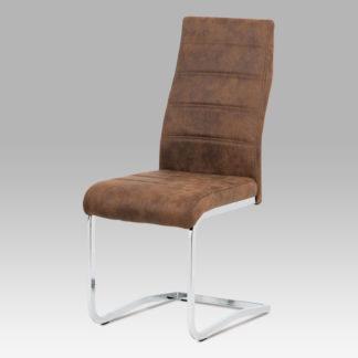 Jídelní židle DCH-451 BR3, hnědá/chrom