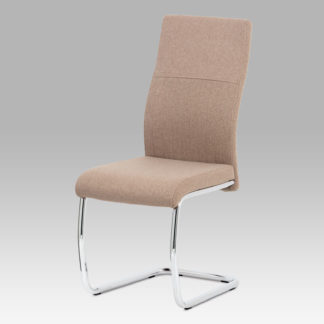 Jídelní židle DCL-450 CAP2, cappuccino látka/kov chrom