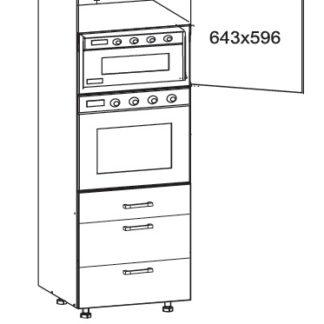 SOLE vysoká skříň DPS60/207 SMARTBOX pravá, korpus wenge, dvířka bílý lesk
