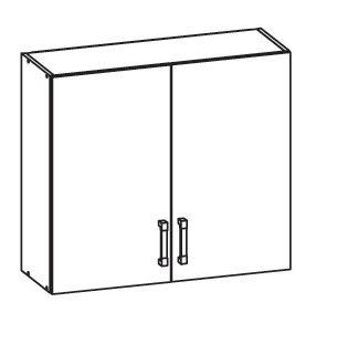 SOLE horní skříňka G80/72, korpus šedá grenola, dvířka bílý lesk