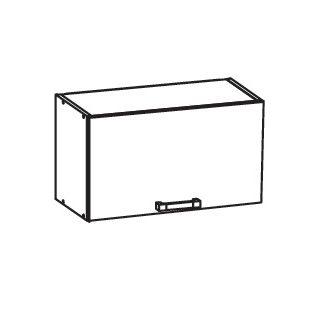 SOLE horní skříňka GO60/36, korpus šedá grenola, dvířka bílý lesk