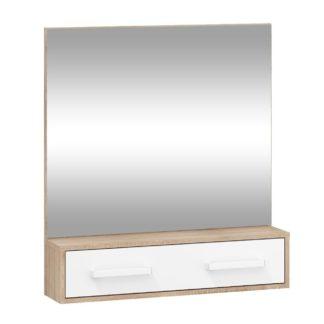 Zrcadlo RIO 10, dub sonoma/bílá