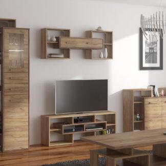 RIO obývací pokoj 5, craft tobaco/craft zlatý