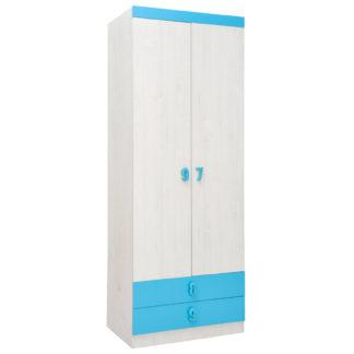 NUMERO SKŘÍŇ O2V2F, dub bílý / modrá