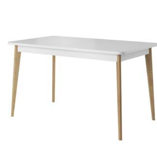 Rozkládací jídelní stůl PRIMO PST140/NORDI NST140, dub riviera/bílá