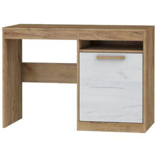 Psací stůl 1D MAXIMUS 02, craft zlatý/craft bílý