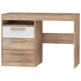 Psací stůl 3S MAXIMUS 03, dub sonoma/bílý lesk