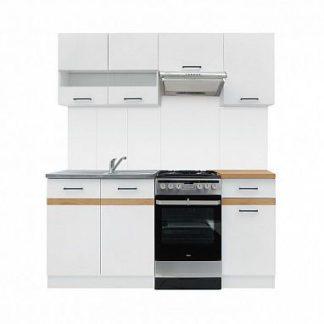 Kuchyně JUNONA 120/170 cm, korpus bílý/dvířka bílý lesk