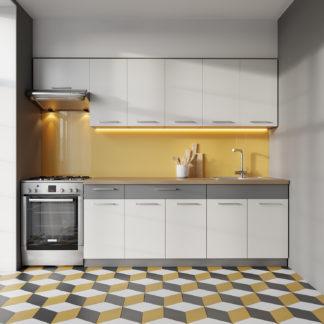 Kuchyně MODENA 200/260 cm, bílý lesk/grafit mat