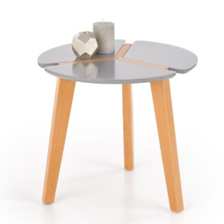 Odkládací stolek ZETA, šedá/buk