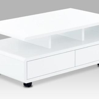 Konferenční stolek AHG-620 WT, bílý vysoký lesk