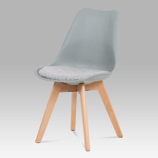 Jídelní židle CT-722 GREY, šedá/buk