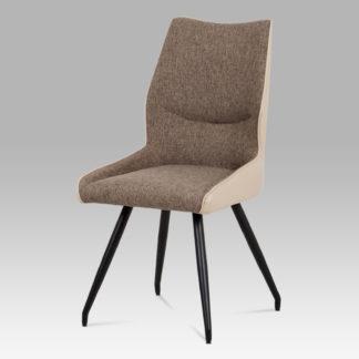 Jídelní židle DCH-351 CAP2, béžová/cappuccino/černá
