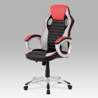 Kancelářská židle KA-V507 RED, červená/černá