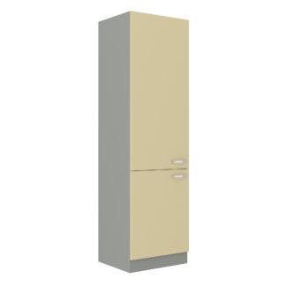 KARMEN, skříňka vysoká 60 DK-210 2F, šedá / krémový lesk