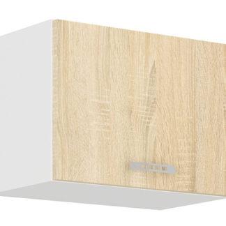 SARA SONOMA, skříňka horní 50 OK-4, bílá/dub sonoma