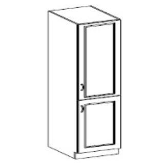 CHAMONIX, skříňka vysoká 40 DK-210 2F, dub Ferrara/ legno tmavé