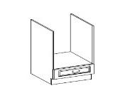 CHAMONIX, skříňka pro vestavnou troubu 60 D G BB, dub Ferrara/ legno tmavé