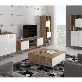 KING obývací pokoj, craft zlatý/bílý lesk