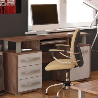 ANGEL PC stůl 1D3S, craft tobaco/craft bílý