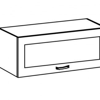 SYCYLIA, skříňka horní nízká se sklem G80KS, ořech milano