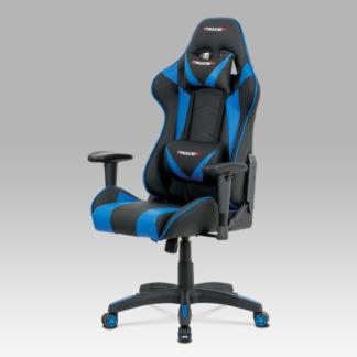 Kancelářská židle KA-F03 BLUE, černá/modrá