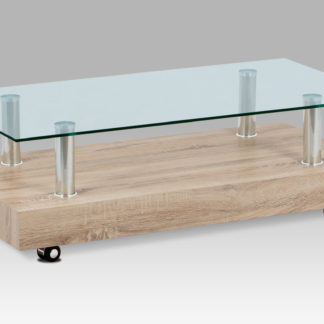 Konferenční stolek AF-2032 SON, dub sonoma/čiré sklo