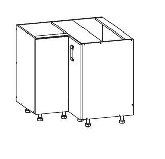 EDAN dolní rohová skříňka DNW 90/82, korpus šedá grenola, dvířka dub reveal