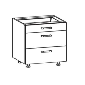 EDAN dolní skříňka D3S 80 SMARTBOX, korpus šedá grenola, dvířka dub reveal