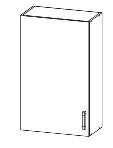 EDAN horní skříňka G60/95, korpus šedá grenola, dvířka dub reveal