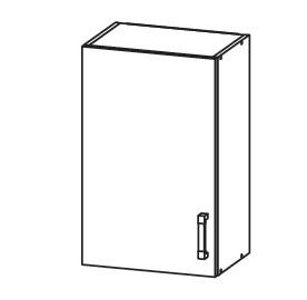 EDAN horní skříňka G45/72, korpus bílá alpská, dvířka dub reveal