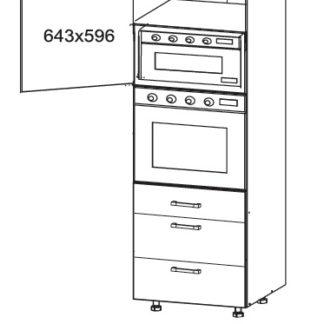 EDAN vysoká skříň DPS60/207 SAMBOX, korpus wenge, dvířka dub reveal