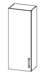 PLATE PLUS horní skříňka G40/95, korpus šedá grenola, dvířka bílá perlová