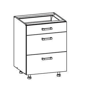 PLATE PLUS dolní skříňka D3S 60 SMARTBOX, korpus wenge, dvířka světle šedá