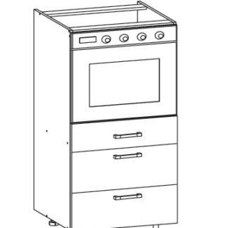 PLATE PLUS dolní skříňka DP3S 60 SMARTBOX, korpus bílá alpská, dvířka bílá perlová