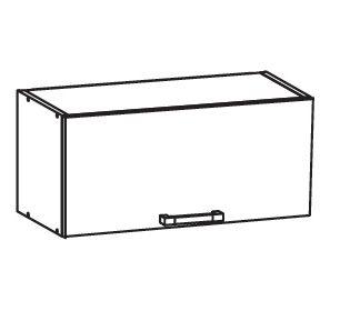 PLATE PLUS horní skříňka GO80/36, korpus wenge, dvířka bílá perlová