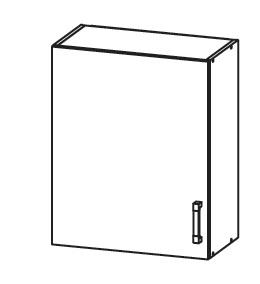 PLATE PLUS horní skříňka G60/72, korpus šedá grenola, dvířka světle šedá