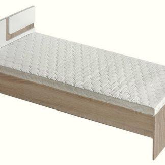 Postel 90x200 cm APETTITA 12, dub jasný/bílá