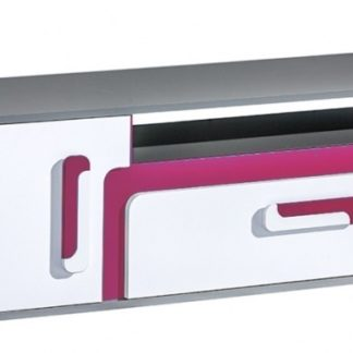 TV stolek APETTITA 17, antracit/růžová