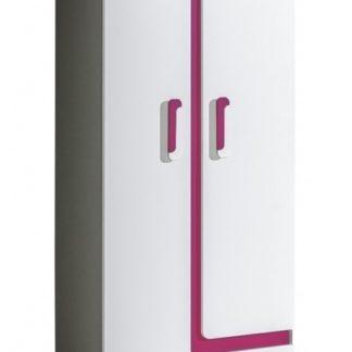 Šatní skříň APETTITA 1, antracit/růžová